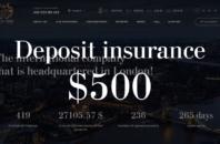 Deposit insurance $500 Grant Epos LTD